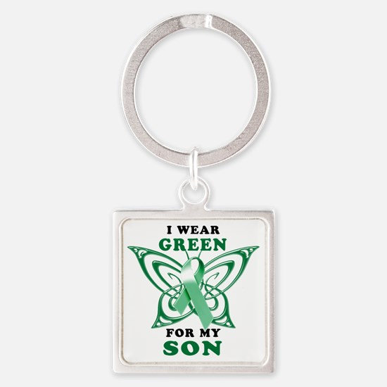 I Wear Green for my Son Square Keychain