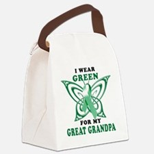 I Wear Green for my Great Grandpa Canvas Lunch Bag