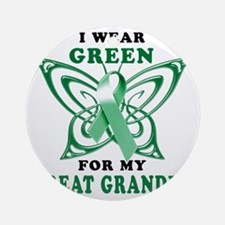 I Wear Green for my Great Grandpa Round Ornament