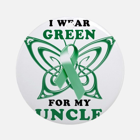 I Wear Green for my Uncle Round Ornament