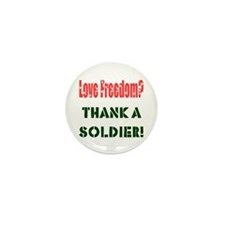 Thank Soldier Mini Button (10 pack)