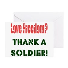Thank Soldier Blank Note Cards (Pk of 10)