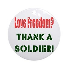 Thank Soldier Ornament (Round)
