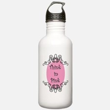 think-in-pink2-bigger. Water Bottle