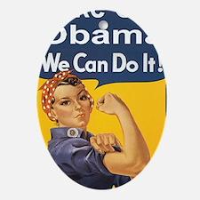 Anti Obama Take out obama Oval Ornament