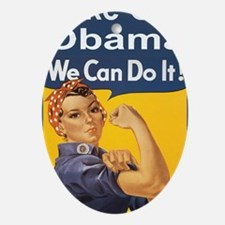 Anti Obama Take out obamalon Oval Ornament