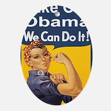 Anti Obama Take out obamabutton Oval Ornament