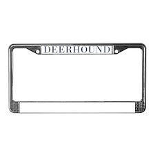 DeerhoundBowlBlue License Plate Frame