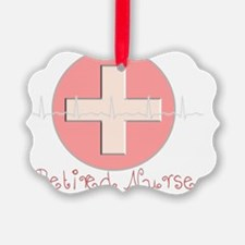 Retired Nurse Cross Ornament