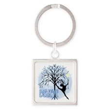 Believe in Dance by DanceShirts.co Square Keychain