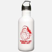Where-My-Hos-At-drk Water Bottle