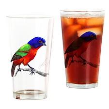 PaintedBunting Drinking Glass