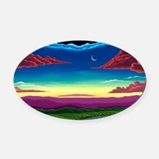 The Beauty of God Oval Car Magnet
