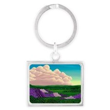 Lilac Valley Landscape Keychain