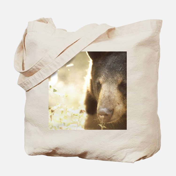 Sniffing Bear Tote Bag