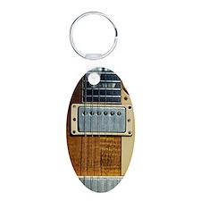 gibsonlespaul Aluminum Oval Keychain