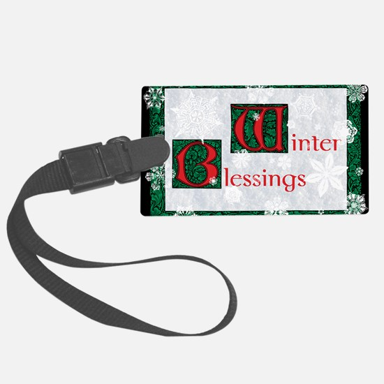 WinterBlessingsGreeting Luggage Tag
