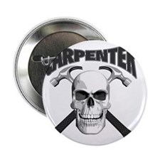 "carpenter skull_blk 2.25"" Button"