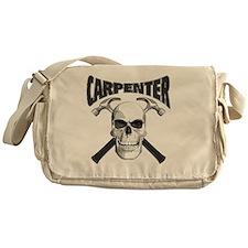 carpenter skull_blk Messenger Bag