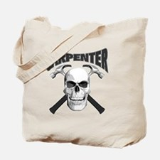carpenter skull_blk Tote Bag