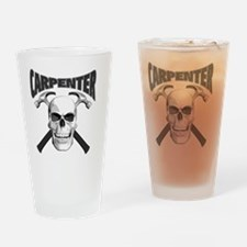 carpenter skull_blk Drinking Glass