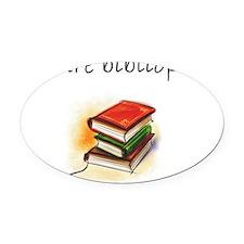 future bibliophile Oval Car Magnet