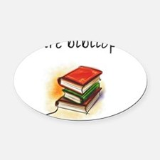 future bibliophile Oval Car Magnet
