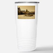 carmelmissionblackframe Stainless Steel Travel Mug