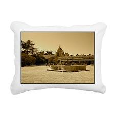 carmelmissionblackframe Rectangular Canvas Pillow