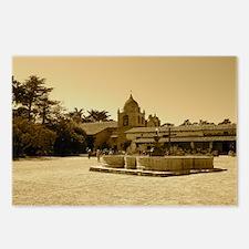 carmelmissionblackframe Postcards (Package of 8)
