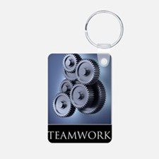 poster_teamwork_01 Aluminum Photo Keychain
