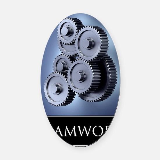 poster_teamwork_01 Oval Car Magnet