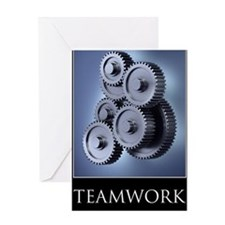 poster_teamwork_01 Greeting Card