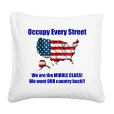 usoccupy1 Square Canvas Pillow
