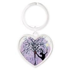 Believe in Dance by Danceshirts.com Heart Keychain