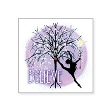 "Believe in Dance by Dancesh Square Sticker 3"" x 3"""