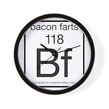 bacon-farts-noble-gas Wall Clock