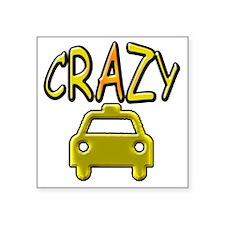 "CrazyTaxi Square Sticker 3"" x 3"""