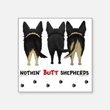 "GSDbuttsNew Square Sticker 3"" x 3"""