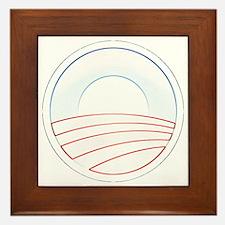 Obama Trim Logo cafepress Framed Tile