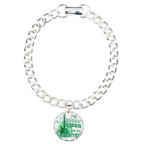 Im Rockin Green for my D Charm Bracelet, One Charm