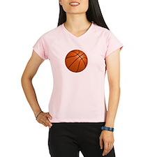 Basketball Smile White Performance Dry T-Shirt