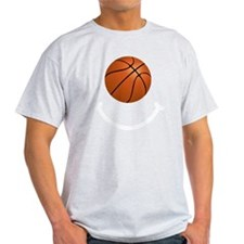 Basketball Smile White T-Shirt