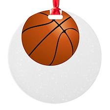 Basketball Smile White Ornament