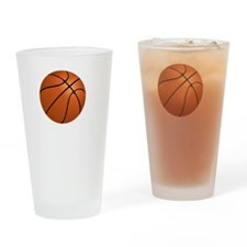 Basketball Smile White Drinking Glass