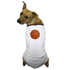 Basketball Smile White Dog T-Shirt