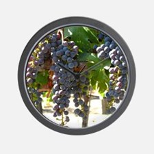 DHPurpGrapes3_11X14 Wall Clock