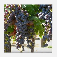 DHPurpGrapes3_11X14 Tile Coaster