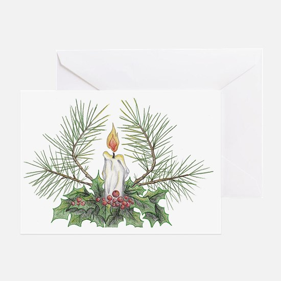 Yule Candle clean Greeting Card