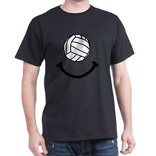 Volleyball Smile Black T-Shirt